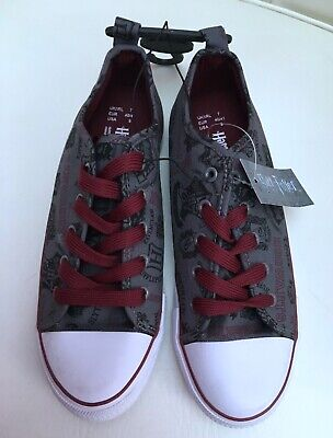 £5.99 • Buy Harry Potter LADIES GREY & RED LACE UP PLIMSOLLS PUMPS TRAINERS SIZE 7 EUR 40