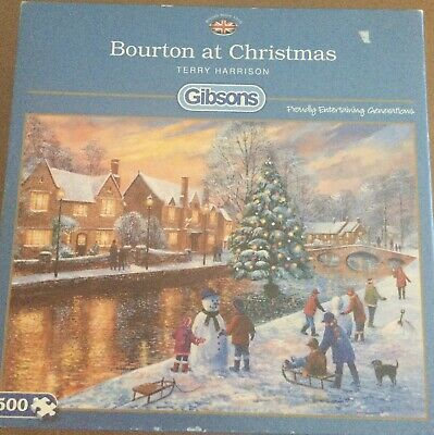 £0.99 • Buy Gibsons: Bourton At Christmas By Terry Harrison 500 Piece Jigsaw UNCHECKED