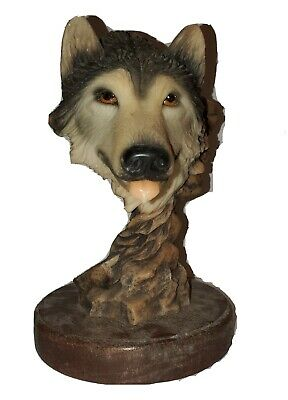 $29 • Buy Vintage Wolf Sculpture Figure - Before The Chase - Mill Creek Studios Decoration