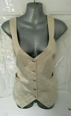 AU37.07 • Buy ❤ SAO PAULO Size 16 (US 10) Cream Ivory Button Up Unusual Blouse Top Pockets