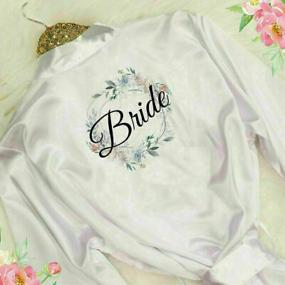 £8.81 • Buy Bridal Party Bride Wedding Bridesmaid Floral Robe Maid Honour Mother Gown Gift