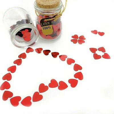 £3.15 • Buy Red Heart Table Confetti Wedding Valentine Day Engagement Party Decorations