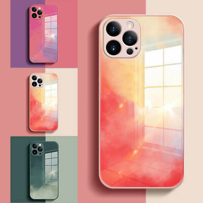 AU5.99 • Buy For IPhone 12 11 Pro Max XS XR 7 8 6 Marble Shockproof Tempered Glass Case Cover