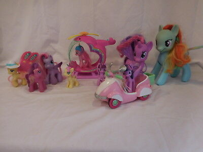 £12.76 • Buy My Little Pony Pinkie Pies Rainbow Helicopter Playset Scooter Ponies And Accesso