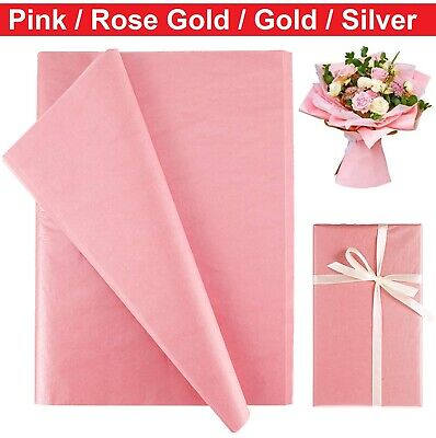 £1.99 • Buy 5~20PCS Tissue Paper Pink/Gold/Silver Metallic Gift Flower Wrapping Paper