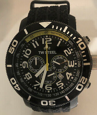 £95 • Buy Mens TW Steel Quartz Chronograph Watch With 24hr Dial TW 75 Boxed