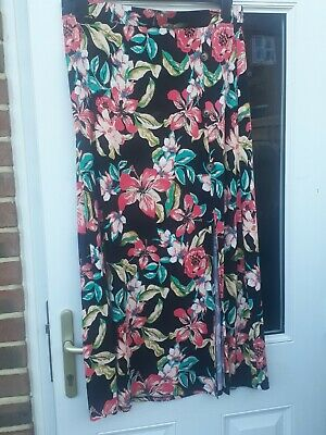 £6.50 • Buy Tu Maxi Skirt Size 18 With Tropical And Small Split Design