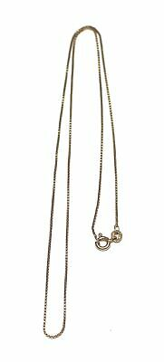 £35.50 • Buy .375 9ct YELLOW GOLD Box Chain Necklace, 18  Length, 1.9g - G09