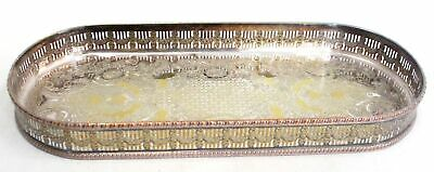 £4.99 • Buy Vintage VINERS OF SHEFFIELD  CHAZED  Silver Plated OVAL Tray/ Platter - B10