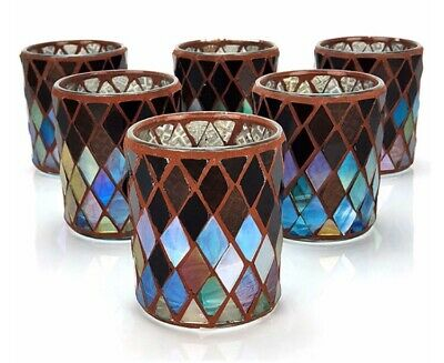 £6.95 • Buy 6 X Official Yankee Candle Mosaic Glass Votive Candle Holders