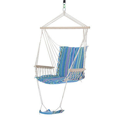 £41.59 • Buy Outsunny Hanging Swing Chair, Seat Size:57W X 47.5D Cm-Multi-Color/White Rope