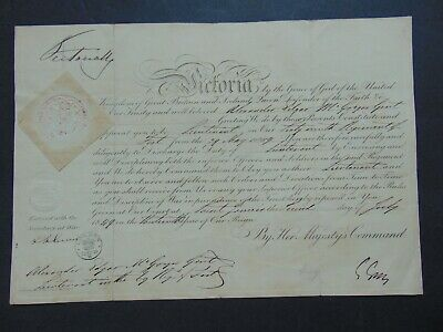 £53.12 • Buy QUEEN VICTORIA C.1849 MILITARY DOCUMENT SIGNED By QUEEN VICTORIA  W ROYAL SEAL