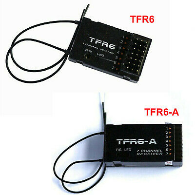 $44.63 • Buy For Futaba FASST FrSky TF Module TFR6 TFR6-A 7 Channel 2.4G Receiver Compatible