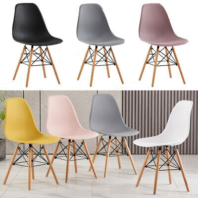 £69.99 • Buy Set Of 4 Dining Chairs Retro Wooden Legs Office Kitchen Lounge Chair