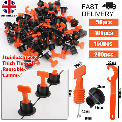 £14.99 • Buy 50/200PCS Tile Leveling System Kit Reusable Tile Spacers Wall Floor Clips Tools