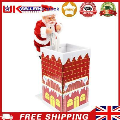 £13.05 • Buy Santa Claus Climbing Chimney Doll Electric Toy With Music Christmas Gifts