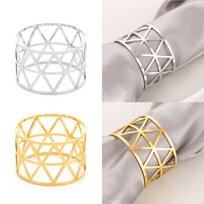 £4.99 • Buy 6/12Pcs Alloy Napkin Rings Wedding Decor Dinner Table Napkin Party Accessories