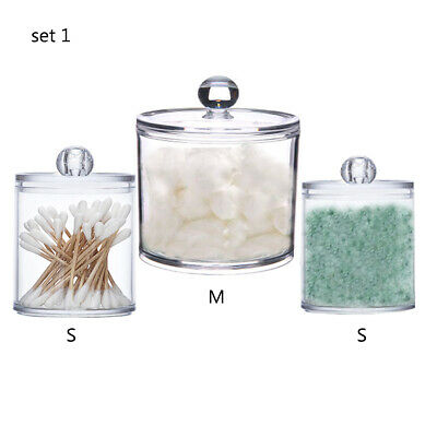 $ CDN17.01 • Buy Q-tip Holder Dispenser Acrylic Clear For Cotton Swabs/Cotton Ball/Cotton Round