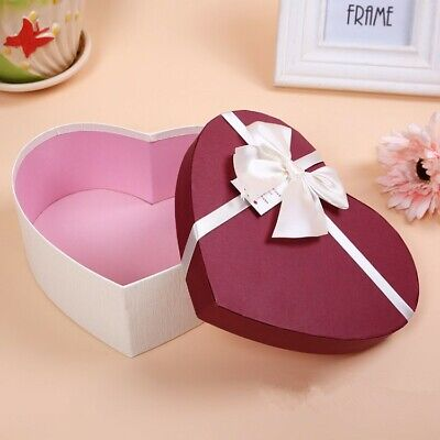 £15.70 • Buy 3pcs Red Heart Shaped Gift Box Packaging Bow Storage Candy Holiday Supplies