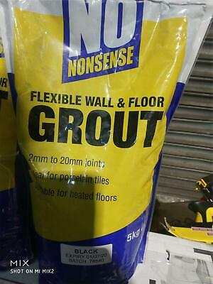 £7.49 • Buy Black No Nonsense No Mould Flexible Wall And Floor Grout 5kg