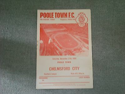 £0.99 • Buy Poole Town  V  Chelmsford City  (sl)  27-12-58