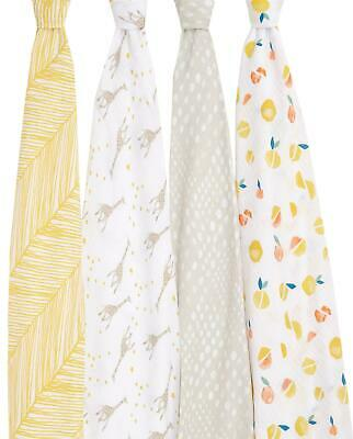 £29.99 • Buy Aden + Anais ESSENTIALS SWADDLE - STARRY STAR - 4 PACK Baby Bedding BN