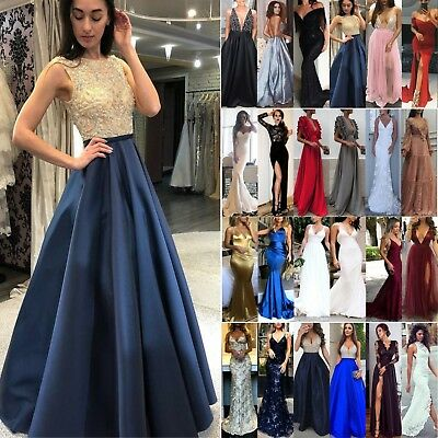 AU27.99 • Buy Women Formal Maxi Dress Evening Party Cocktail Prom Bridesmaid Wedding Ball Gown