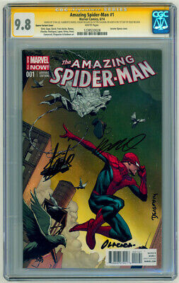 £566.59 • Buy Stan Lee SIGNED 1st Day Issue CGC SS 9.8 Amazing Spiderman #1 Opena Variant