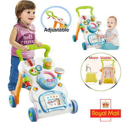 £16.94 • Buy 2 In 1 Baby Walkers First Steps Push Along Car With Music And Lights Trolley Toy