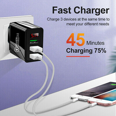 AU5.33 • Buy Quick USB Charger For Iphone Samsung EU & US Plug Fast Charging Adapter