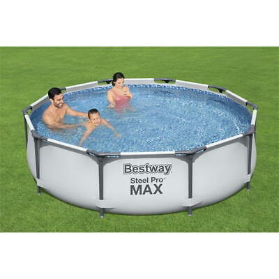 £189.99 • Buy BestWay Steel Pro Frame Swimming Pool Set Round Above Ground With Repair Patch