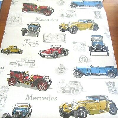 £110.55 • Buy 1 Partial Roll Vintage Wallpaper Retro 1950s 1960s Cars Rover Mercedes MG New