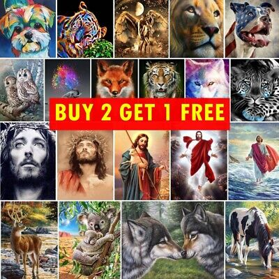 AU8.99 • Buy Animal 5D DIY Full Drill Diamond Painting Embroidery Kits Home Decor Arts Gifts