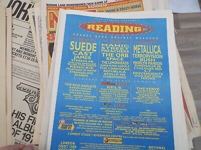 £5.50 • Buy READING FESTIVAL  1997, METALLICA, SUEDE, THE ORB      POSTER For FRAMING