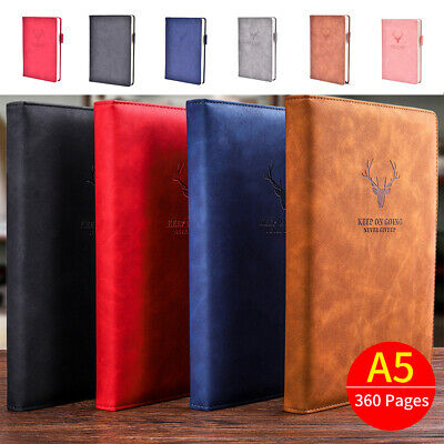 £4.99 • Buy 360 Pages A5 PU Leather Cover Traveler Journal Notebook Lined Paper Diary Study