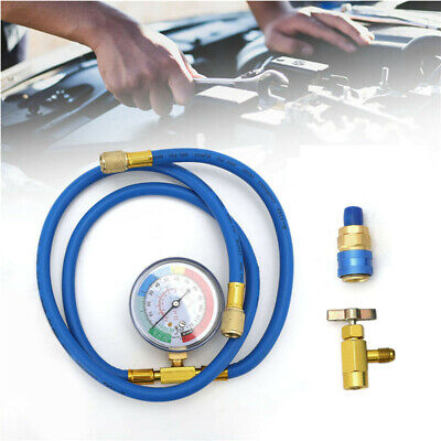 £15.99 • Buy Car R134A Hose A/C Air Conditioning Refrigerant Recharge Hoses Tool With Gauge