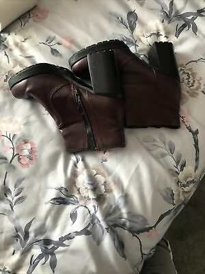£4 • Buy Red Herring Leather Boots Purple Never Been Worn