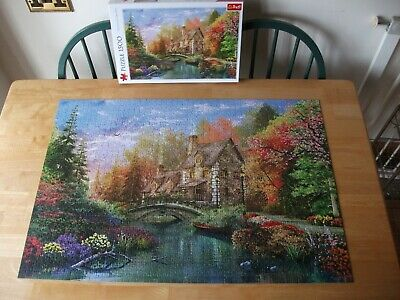 £0.99 • Buy Trefl  Cottage By The Lake  1 X 1500 Puzzle Excellent Condition