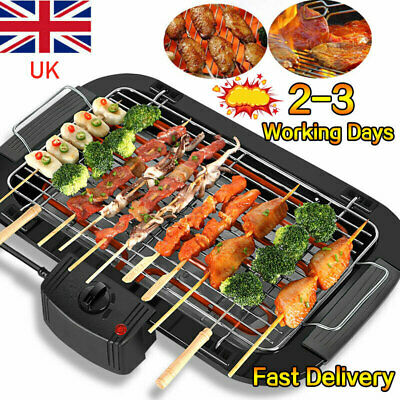 £21.99 • Buy Electric Grill Table Top BBQ Barbecue Garden Camping Cooking 2000W Indoor Or Out