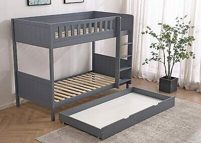 £295 • Buy Panana Wooden Bunk Bed With Large Storage Drawer, Available In Grey And White