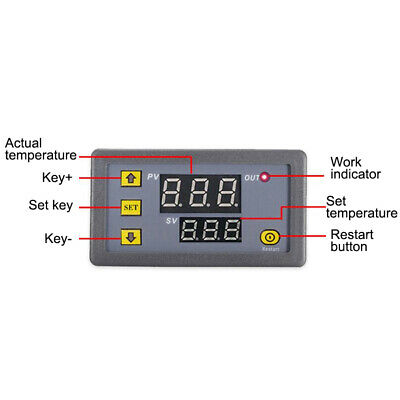 £4.69 • Buy Digital LED Microcomputer Temperature Controller Thermostat Switch Sensor DC12V
