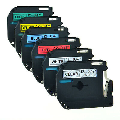 $9.99 • Buy 12mm M-K131 231 431 531 631 731 For Brother P-touch PT-110 Color Label Tape Set