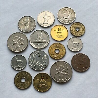 £0.99 • Buy Job Lot Of Asia/arab/Middle East Coins X15