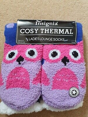 £0.99 • Buy Insignia Cosy Thermal Ladies Lounge Socks. Size 4-8.  New.