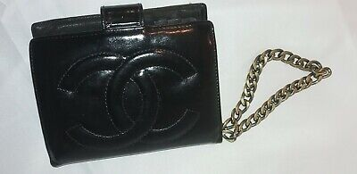 AU62.27 • Buy Authentic Chanel CC Logo Quilted Hand Wallet Coin Bag Wristlet Purse Clutch 639