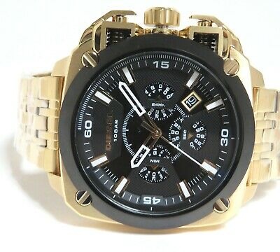 $ CDN168.82 • Buy Diesel  Men's Bamf Chronograph Stainless Gold Tone Watch, Dz7378 Nib With Tags