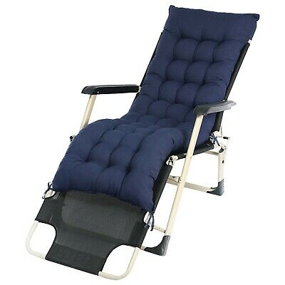AU54.99 • Buy Sun Lounger Recliner Chair Luxury Padded Cushion Outdoor Garden Furniture Patio