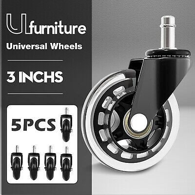 AU27.90 • Buy 3  5PCS Swivel Caster Wheels Heavy Duty Gaming Office Chair Smooth Rotation