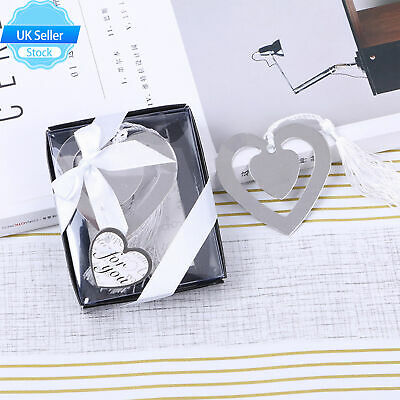 £3.59 • Buy UK Heart Shaped Hollow Metal Bookmark With Tassel For Box Book Reading Decor