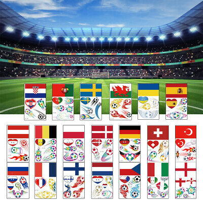 £3.61 • Buy World Cup Country Flag Tattoo Sticker Waterproof Removable Temporary Tattoos UK.